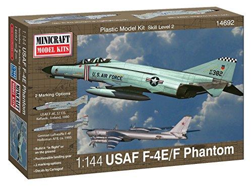 Minicraft F-4E Phantom ADC/RAF Model Kit, 1/144 Scale 1 144 Scale Airplanes