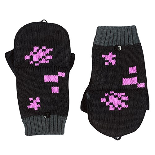 Official Minecraft Enderman Mittens In Black Amazon Co Uk Clothing