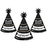 Big Dot of Happiness Reunited - Mini Cone School Class Reunion Party Hats - Small Little Party Hats - Set of 10