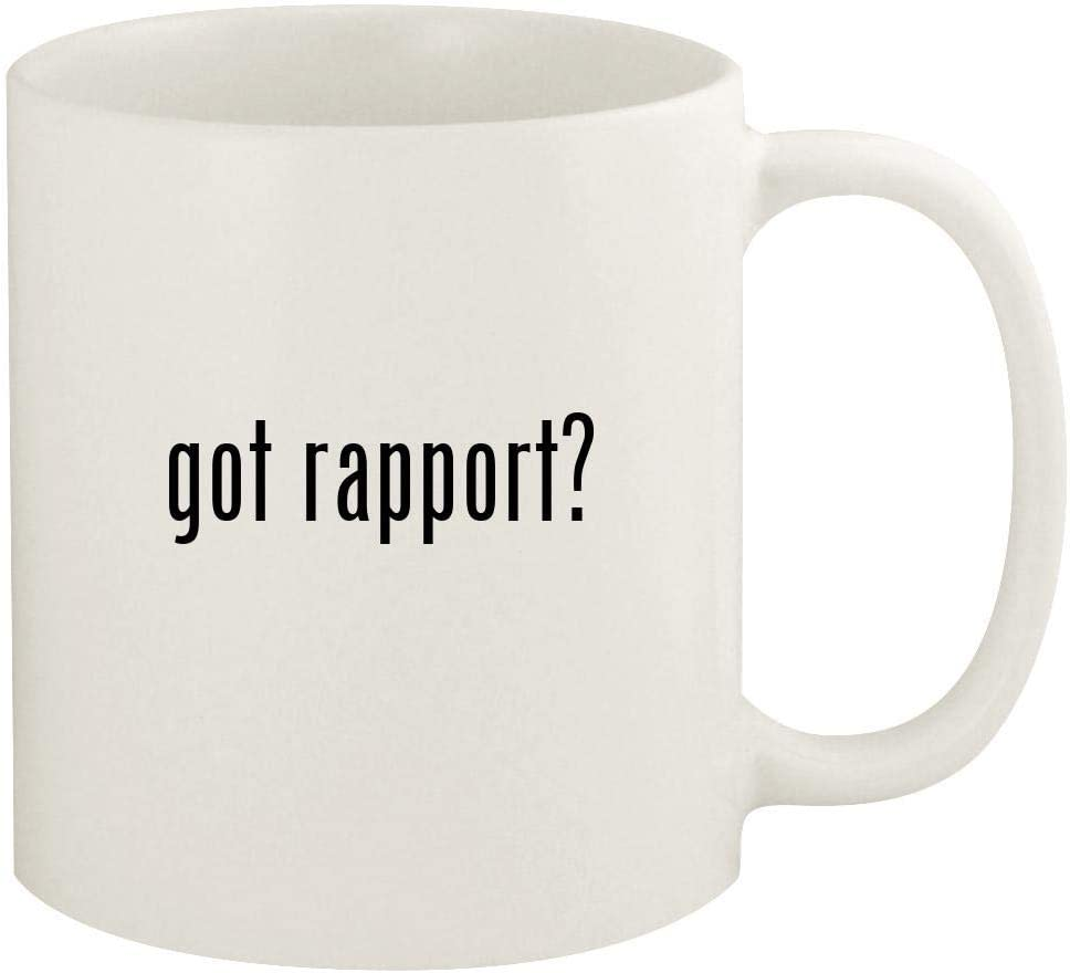 got rapport? - 11oz Ceramic White Coffee Mug Cup, White