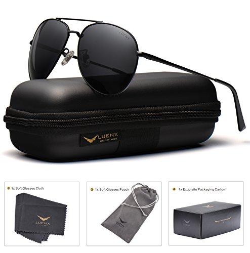 Protection 60mm LUENX 9 de noir Lunettes Homme UV 400 Soleil Hq00WgYOxw