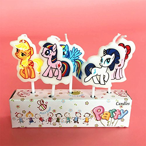 Astra Gourmet 5pcs My Little Pony Shaped Birthday Candles for sale  Delivered anywhere in USA