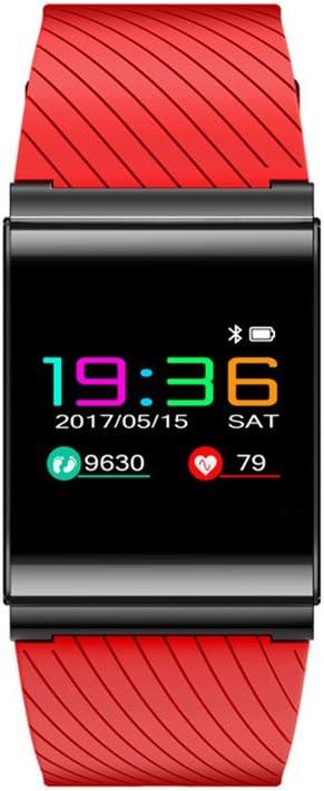 Colorido pantalla OLED pulsera Smart Bluetooth reloj inteligente, IP67 impermeable Bluetooth 4.0 para Android IOS Smartphone, rojo: Amazon.es: Deportes y aire libre