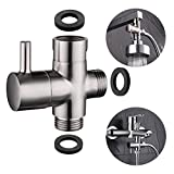 CIENCIA G1/2'' Bathroom Angle Valve For Solid Brass 3-Way Shower Arm Diverter Valve Handshower for Handshower Universal Showering Components,Brushed Nickle DSF007NA