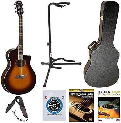 Yamaha apx600ovs guitarra acústica (Old) con carcasa de madera de ...