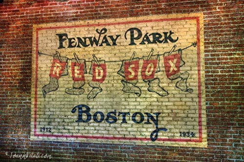 Fenway Park Vintage Print, Red Sox Wall Art, Vintage Fenway Park Wall -