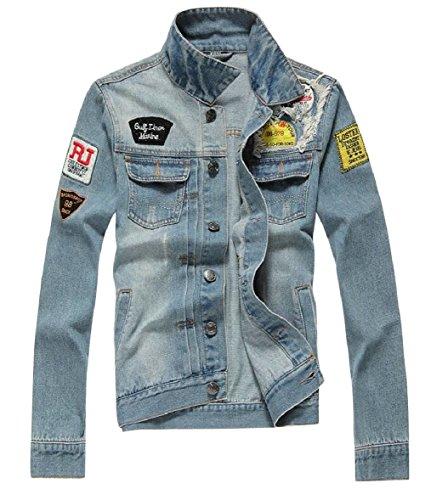 CBTLVSN Men Slim Fit Denim Jacket Black Jeans Coat for sale  Delivered anywhere in USA