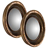 Everleigh French Country Round Antique Copper Mirrors - Set of 2