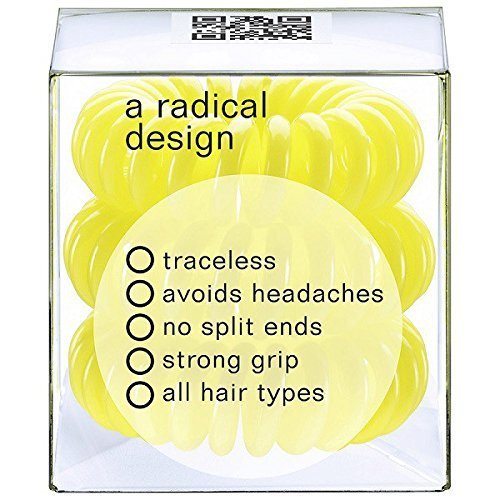 Invisibobble Traceless Hair Ring and Bracelet, Submarine Yellow Suitable for All Hair Types by Invisibobble