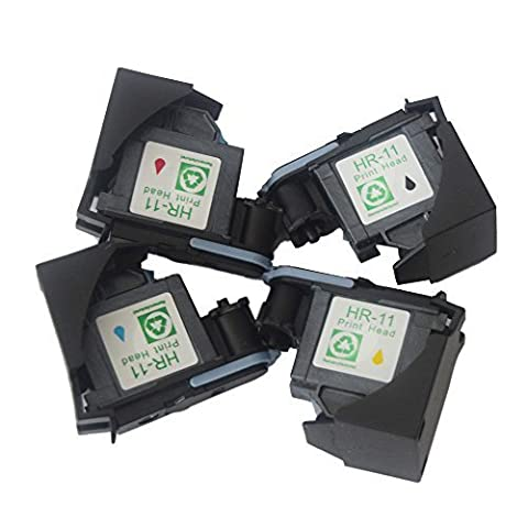 Ink Choice Compatible 4pk Printhead for Hp11 Printhead for Hp 11 Designjet 70 90 100 110 500 510 500ps 800ps 9110 K850 Printing - Designjet 510 Printer