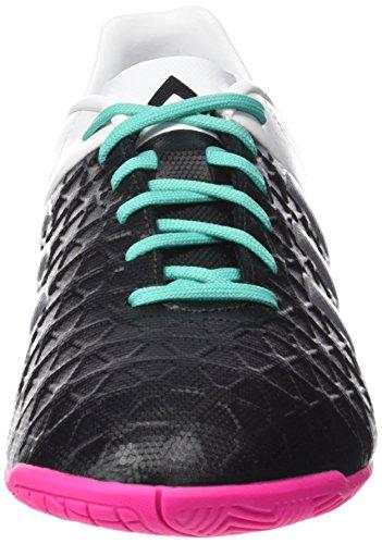 adidas Ace 15.4 In, Botas de Fútbol para Hombre Negro / Plateado / Blanco (Negbas / Plamat / Ftwbla)