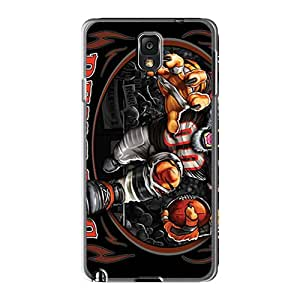 LeoSwiech Samsung Galaxy Note 3 Scratch Protection Phone Covers Provide Private Custom Fashion Cincinnati Bengals Pictures [KBy9102MGTJ]