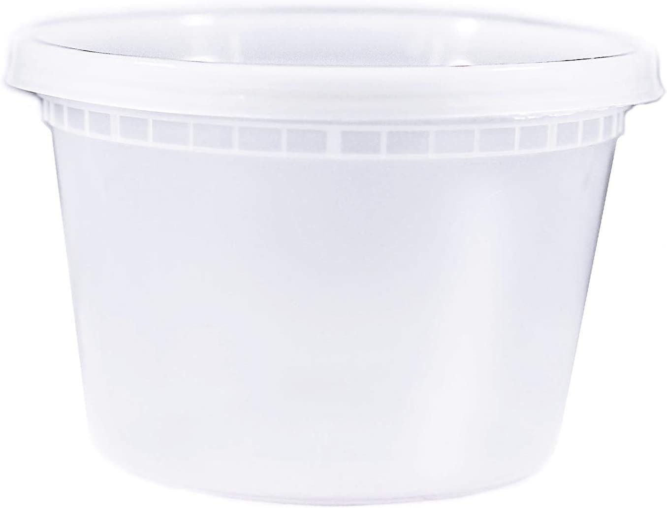 EDI Microwaveable Deli Containers with Leak proof Lids Food Storage Container 25 Packs (16 OZ)