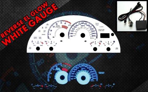 Brand New White Face Blue Indigo Reverse Glow Gauges For 97-00 Chevy Camaro Z28 (I-151) Gauge 151