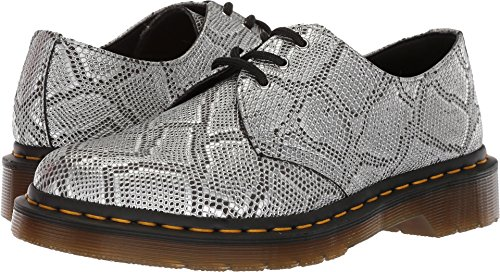 - Dr. Martens Women's Vegan 1461 Oxford, Silver Metallic Snake, 6 Medium UK (8 US)