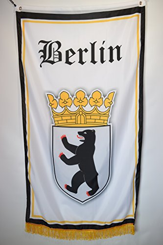 Berlin Germany Coat Of Arms Garage Hangar Basement Flag 3x5