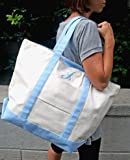 Tremendous Tote with Blue Trim - Free Personalization included
