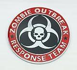 zombie chrome emblem - 1 NEW CUSTOM ZOMBIE OUTBREAK RESPONSE TEAM BADGE EMBLEM RED BLACK CHROME