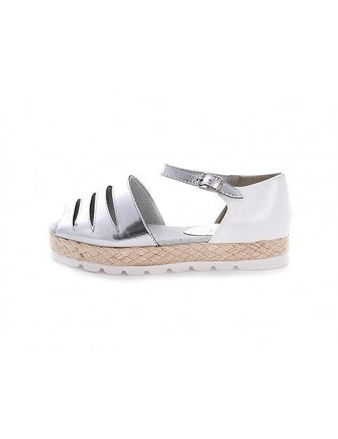 STUDIO CREAZIONI - Alpargatas para mujer Gris plateado Gris Size: 39: Amazon.es: Zapatos y complementos