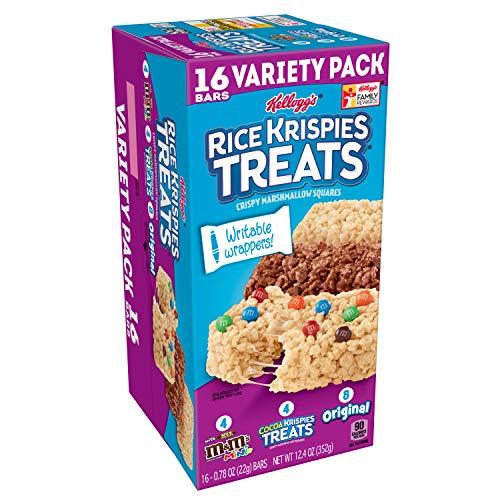 Kellogg's Rice Krispies Treats, Snack Bars Variety Pack, 16 Count ()