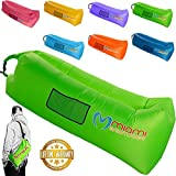 ZLoungeAir Inflatable Couch - Portable Lightweight Durable Fun Outdoor Air Lounger - Inflatable Lounge Float for Beach Camping Pool Picnic Park Festivals Travel - No Pump Needed (Green)