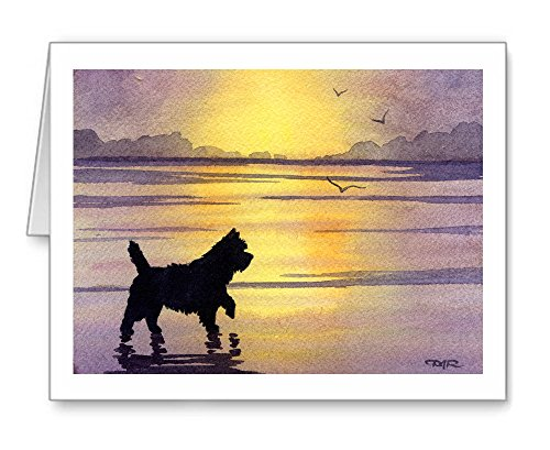 Cairn Terrier Sunset - Set of 10 Note Cards With - Cards Terrier Note Cairn