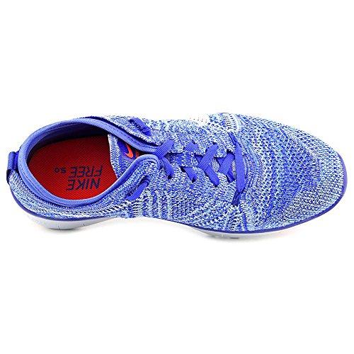 Nike Wmns Free Tr Flyknit, Zapatillas de Gimnasia para Mujer Azul (Racer Blue / White-Brght Crimson)