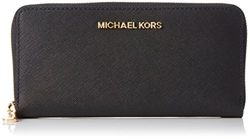 MICHAEL Michael Kors Women's Jet Set Travel Saffiano Continental Wallet, Black by MICHAEL Michael Kors
