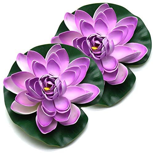 YOOTOP Aquarium Foam Floating Lotus Decoration for Garden Pond or Wedding