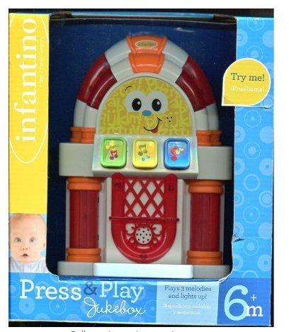 Game / Play Press & Play Jukebox ** 6 Months * Plays Music & Lights up * Infantino, toys, babies, newborn Toy / Child / Kid by WE-R-KIDS (Image #1)