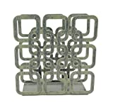Rustic Green Metal Square Shape Tabletop Napkin