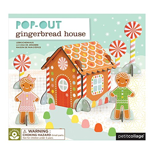 Petit Collage Pop-Out and Build, Gingerbread House -