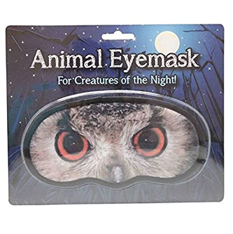 Novedad Animal ojo máscara – búho Sleep broma venda broma regalo