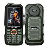 Cectdigi T19 Rugged 2G GSM Mobile Phone,Shockproof Military-Designed phone with Power Bank Charging Function,15800mAh Battery,2.8inch Display,Three SIM Cards,Flashlight (Green, No TF Card)