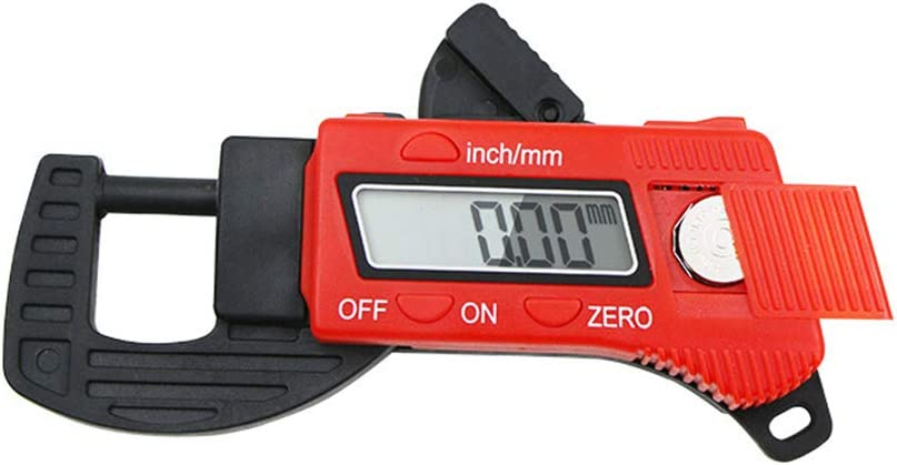 Professional Inch//Metric Thickness Measuring Tools 0.01mm Resolution Thickness Gauge Digital Micrometer