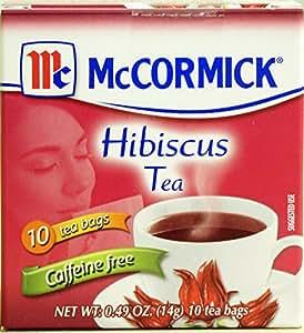 McCormick Hibiscus Tea, Te de Jamaica, 10 Tea Bags (net wt 0.49 oz)