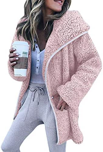 Sweaters for Women Plus Size Winter Long Sleeve Hoodies Cardigan Casual Jacket Coat Pullover Tunic with Pocket