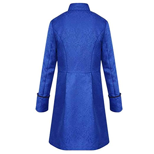 Logobeing Chaquetas para Hombre, Abrigo de Invierno Cálido Vintage Tailcoat Chaqueta Abrigos Hombre Outwear Botones Escudo Traje Fiesta Outwear: Amazon.es: ...