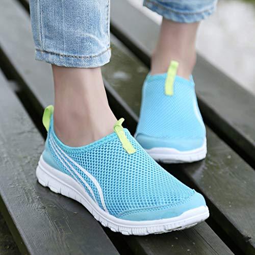 Plataforma Verano Zapatos Flat De Mujer Loafer Casual Deporte Primavera Casual Mocasines Blue Cuña fx81Iqn