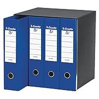 Esselte 390759050 - Juego de archivadores de polipropileno, 4 unidades, color azul
