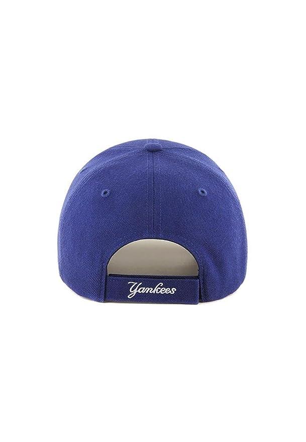 fe2a2504937 47 Brand NY Yankees MVP Youth Cap - Royal Blue  Amazon.co.uk  Clothing