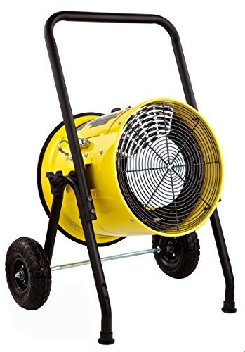 Dr Infrared Heater DR-PS11024 Salamander Construction 10000-Watt, Single Phase, 240-Volt Portable Fan Forced Electric Heater ()