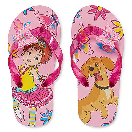 Fancy Nancy Girls Sandals Little Toddler Beach Flip Flops Butterfly (11-12) Pink