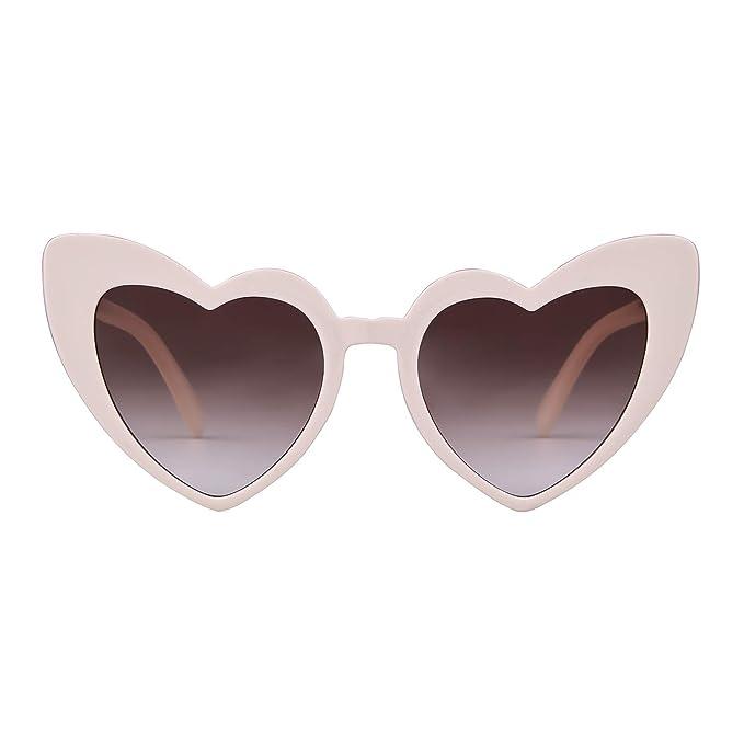 Amazon.com: Clout - Gafas de sol con forma de corazón ...