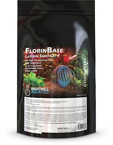 Brightwell Aquatics FlorinBase Laterin Substrat F, Fine Granular High Porosity Clay Base Substrate for use in Planted and Freshwater Shrimp biotope Aquaria, 5 Lbs ()