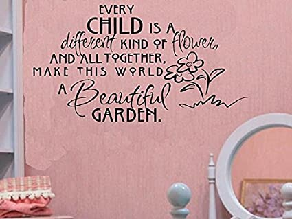 Amazoncom Firstdecals Wall Decal Every Child Is A Different Kind