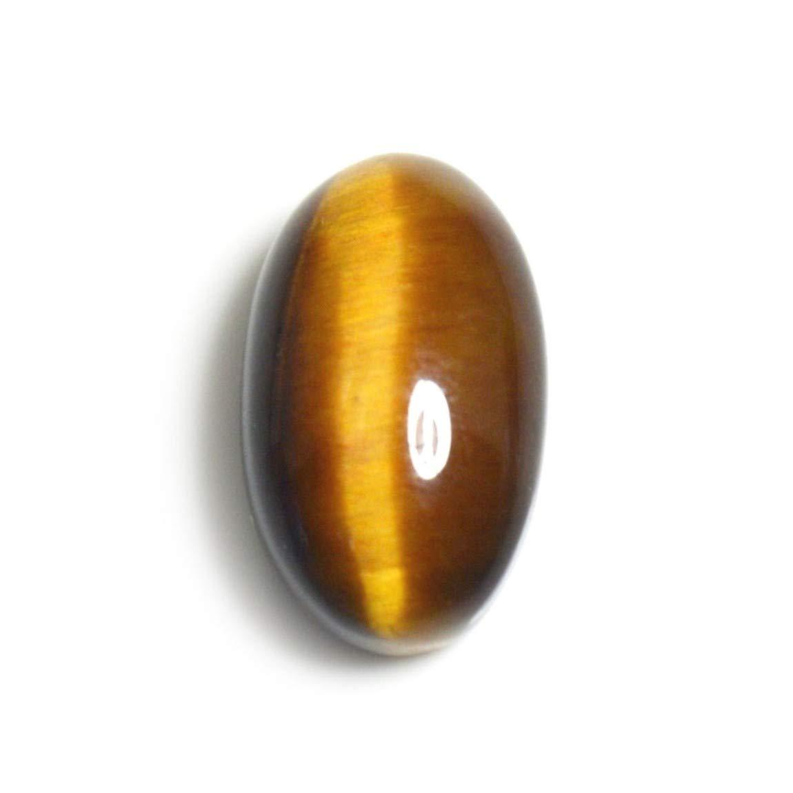 CaratYogi 14X12 MM V/éritable Oeil De Tigre Pierre Brun Cabochon Ovale L/âche Gemstone pour La Fabrication de Bijoux