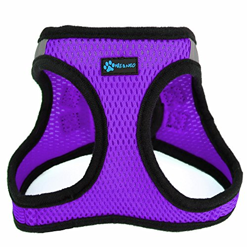 - Max and Neo Nanu Small Dog Reflective Dog Harness - We Donate a Harness to a Dog Rescue for Every Harness Sold (X-Small, Purple)