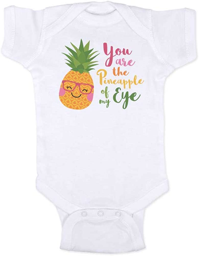 Baby Onesies Pineapple Youre Such a Fine-Apple for Me 100/% Cotton Baby Jumpsuit Comfortable Short Sleeve Bodysuit