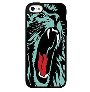 Black and Blue Lion Face Hard Snap on Case (iPhone 5c)